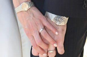 Mooi horloge in plaats van ringen