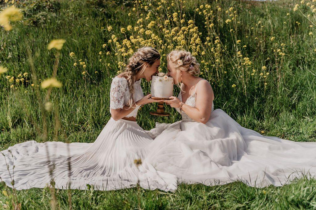 Prachtige impressie van de styled shoot in Diemen met deze golden girls