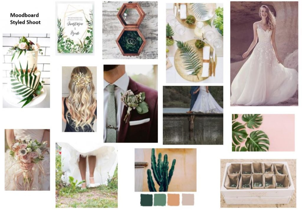 moodboard voor styled wedding shoot