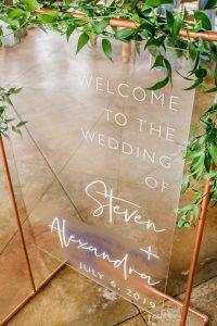 bruiloft welkomstbord